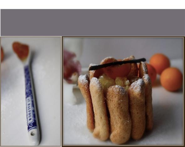 Orange dacquoise biscuit